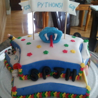 Spjh Pythons Spirit Week Cake I have many other pictures of this cake, each side of the star has a different theme that applies to the school. The cake was created for a...