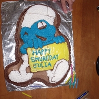 Happy Smurfday First all icing cake, more practice needed. June 2011