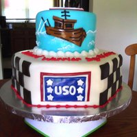 Uso/wounded Warriors Cake Cake was for a picnic sponsored by Checkered Flag and the USO for the Wounded Warriors. Vanilla and chocolate marble cake with vanilla...