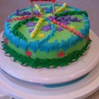 Cake Of Stars Just a little cake with a star theme! Funfetti cake inside. Vanilla cream frosting.