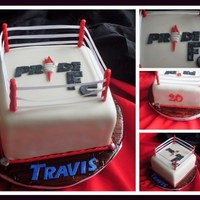 Travis's Pride Fc Birthday Cake Birthday cake for a MMA, UFC, cage fighting enthusiast.