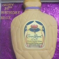 Crown Royal Cake Vanila cake with vanila buttercream
