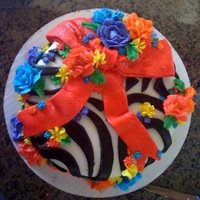 Zebra Cake The actual cake part is zebra as well