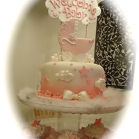 Pink Baby Carriage Cake Pink Baby Carriage Cake