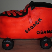 Roller Skate Roller Skate for my Nephew ..he wanted Barack Obama on his cake :-)