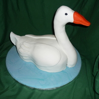 Goose Cake I was asked to make this birthday cake for a man who used to have a pet goose.