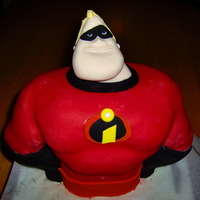 Mr Incredible I made this for my brother's birthday.