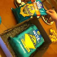Chips, Anyone? Cake made to look like a bag of Wise Potato Chips. For a Wise Chip addict's birthday.