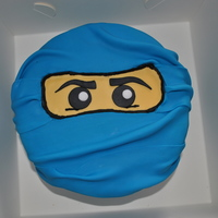 Blue Ninja Jay Lego Ninjago Blue Lego Ninjago cake... Vanilla cake with blue buttercream and blue fondant