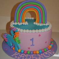 My Little Pony Rainbow Dash Cake My little pony Rainbow Dash cake