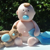 Baby Boy/ Baby Shower Cake Topper