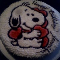 Baby Snoopy I made this one with buttercream and it was all done by hand with no patterns......