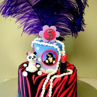 Everything Rylee I made this cake for my nieces 5th bday party today. She got a little bit of everything she loves on this cake. Feathers, makeup and jewels...