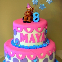 Maya's Birthday - Icing Smiles Another cake I made this weekend for the wonderful organization Icing Smiles. This is a two tiered double chocolate cake covered in fondant...