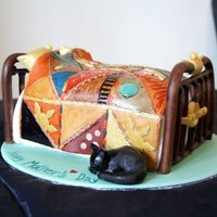 Patchwork Single Bed Cake
