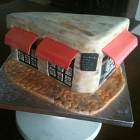 Real Estate Business It was fun making this cake to look like my friends' real estate business
