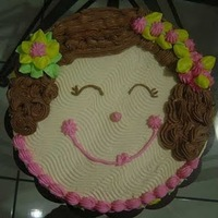 Face Cake Sponge cake with buttercream