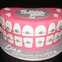 Braces Cake Thank you to CC for the idea. A thank you cake for our orthodontic Doctor and staff.