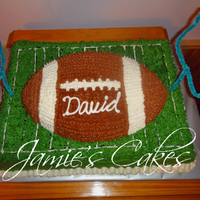 Football Party This cake was done for a friends grandson. Red Velvet Cake with CC Frosting