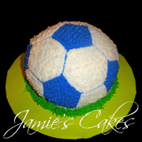 Soccer Cake   This was made for a friends Son's Birthday. Chocolate cake with BC Frosting.