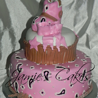 Cowgirl Shower  I saw this cake design on CC and it was perfect for the babyshower a friend was throwing. I can't remember who's pic i saw but a...