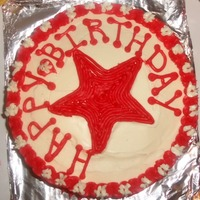 Star Birthday Cake   red velvet with creamcheese icing