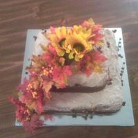 This Is A Fudge Marble Cake With A Mix Of Vanilla And Chocolate Butter Cream Icing Thats How I Got The Light Tan Color The Flowers Are Si This is a fudge marble cake with a mix of vanilla and chocolate butter cream icing. That's how I got the light tan color. The flowers...