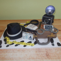 Private Eye Crime Scene Cake