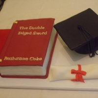 Graduation Cake-Closed Book And Cap