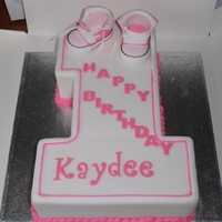 1St Birthday Cake With Baby Converse Boots