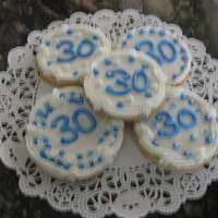 Sugar Cookies For 30Th B-Day Sugar cookies, royal icing