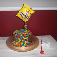My First Gravity Cake Complete With The Tricks Of The Trade I Used To Create Ita Balloon Stick And Cotton Wools Balls I Followed My  My first gravity cake, complete with the tricks of the trade I used to create it.....a balloon stick and cotton wools balls!! I followed &...