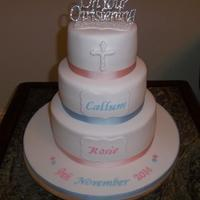 Christeningbaptism Cake For Both A Boy And Girl Xsx   Christening/Baptism cake for both a boy and girl xsx