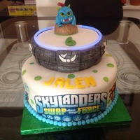 Skylanders Cake With Glowing Portal Skylanders cake with glowing portal