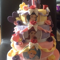 Disney Princess Birthday Cake Disney princess birthday cake