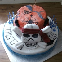 Pirate Cake This was a cake with pirate theme for a joint party
