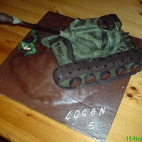 Tank Cake Tank cake for birthday