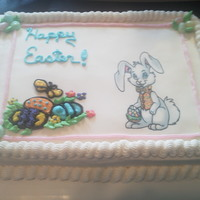 Easter Cake I used:Butter cream icingEdible sheetJelly Beans