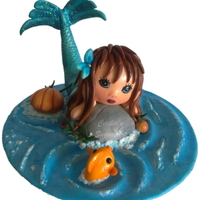 Mermaid Daydreaming Cake Topper