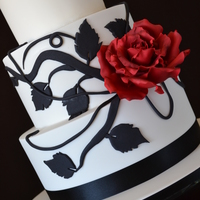 Red Sugar Rose  I am not sure of who is the original cake designer of this cake, but I fell in love with it and couldn't wait to give it a try. I...
