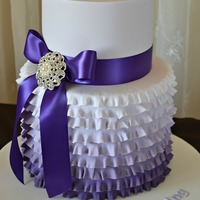 Purple Ombre Ruffles