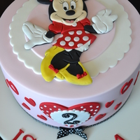 A Cute Birthday Cake With The Ever Popular Minnie Mouse The Image Is Made Completely From Icing Allowed To Dry And Set As A Keepsake I Ha A cute birthday cake with the ever popular Minnie Mouse. The image is made completely from icing, allowed to dry and set as a keepsake. I...