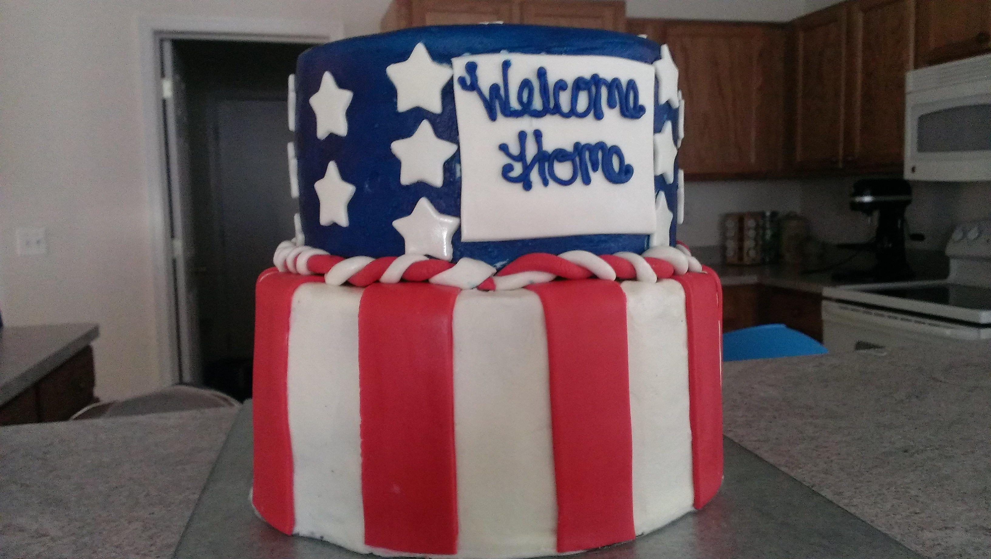 Welcome Home Soldier I made this cake for a soldier who hadn't been home for a year and some. First Afghanistan, then Germany.