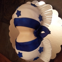 Dallas Cowgirl Cheerleader 2 cakes made from bowls covered in fondant, airbrushed and fondant detailing,