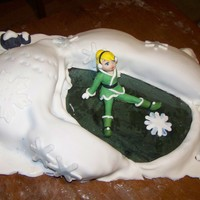 I Was Asked To Make A Cake That Had Both Tinkerbell And Winter In It So I Thought About This Scene In The Lastest Movie She Loved It   i was asked to make a cake that had both Tinkerbell and winter in it so I thought about this scene in the lastest movie, She loved it