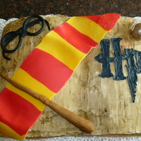 Harry Potter Cake I made this cake for my sister in laws birthday. She loves to read and is very excited about the new Harry Potter movie coming out in July...