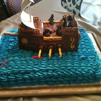 Pirate Ship I wish I had a better picture of this cake. All the time it took was so worth see my friend's grandson's face when he saw it.
