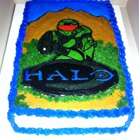 Halo Birthday Cake Halo Buttercream transfer