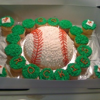 Baseball Cake a cake i made for my daughters last baseball game