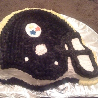 Pittsburgh Steeler Cake pittsburgh steeler helment i made for my boyfriend
